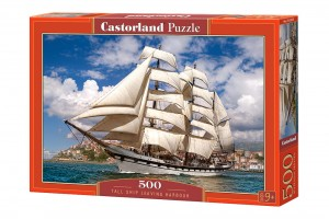 Puzzle 500 Tall Ship Leaving Harbour CASTOR